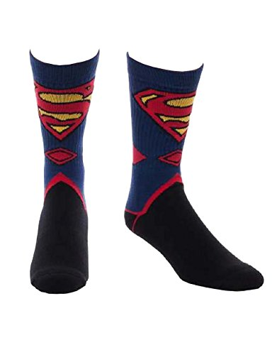 Superman Socken DC Comics Suit Up Classic Logo offiziell Nue Schwarz (UK Size (Schwarz Dc-socken)