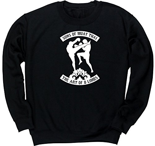 Hippowarehouse Sons of Muay Thai The Art of 8 Limbs Unisex Jumper Sweatshirt Pullover (Specific Size Guide in Description)