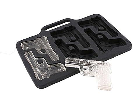 Novelty Bac à glaçons en silicone avec compartiments en forme de pistolet