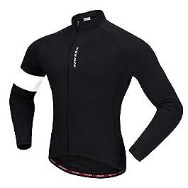 WOSAWE Giacca Ciclismo Manica Lunga Uomini Fleece Termico Caldo MTB Abbigliamento Inverno Bici Bicicletta Magliette