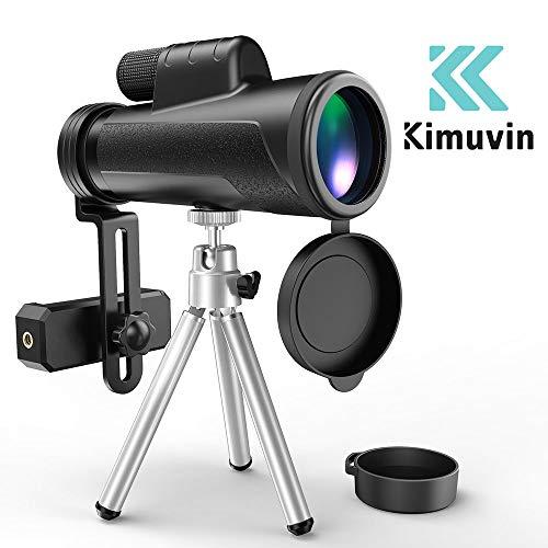 VEER24 12X50 Monocular Teleskop - High Powered BAK4 Prisma Phone Scope mit Smartphone Stativ und Mount Adapter, Wasserdichte Nebel