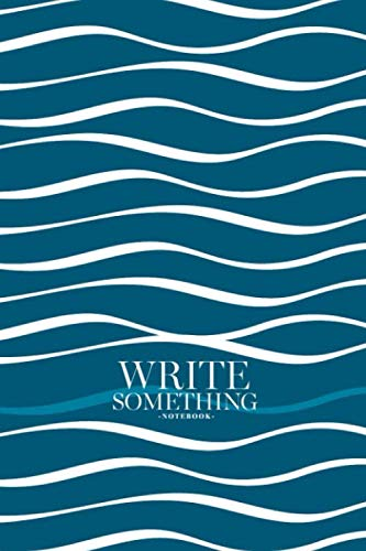 Notebook - Write something: Abstract wave notebook, Daily Journal, Composition Book Journal, College Ruled Paper, 6 x 9 inches (100sheets) (Shirt Navy Aloha)