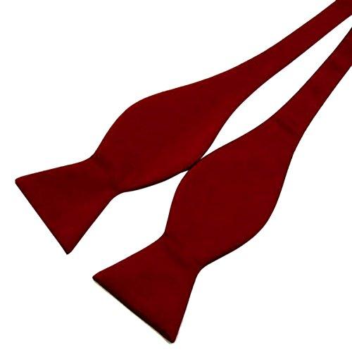 Sasairy Cravatta a farfalla papillon DIY per Matrimonio Lavoro Uomo Lunghezza regolabile Confezione regalo del padre del regalo di compleanno-Rosso Scuro