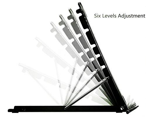 APzek Tablets Phone Stände, verstellbare Notebook Stative Metal Mesh belüftete Kühlhalter Compact Support für Laptop, Notebook, iPad, iPhone, Tablet
