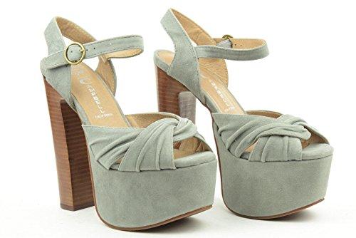 JEFFREY CAMPBELL donna sandali con plateau DONNAS 2012-805 37 Grigio