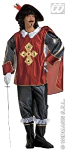 WIDMANN Deluxe Musketeer Mens Fancy Dress Available Sizes : Mens up to a 44 inch chest (disfraz)