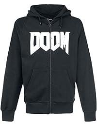 DOOM Hoodie -XL- Logo, schwarz [import allemand]