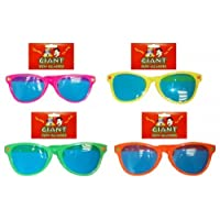 Giant Sunglasses for 70s 80s Fancy Dress Accessory by Partypackage Ltd