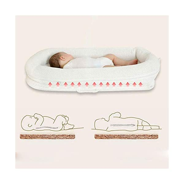 RMXMY Crib Portable Bed Bed Bionic Bed Baby Bed Bed Newborn Baby Bed Multi-function Sleepy Anti-pressure Travel Bed RMXMY ★Baby bed is suitable for 0-8 months baby ★Baby's sleep artifact, 5° pad height, more breathable, better support the baby's neck ★Can be combined with a large bed to take care of your baby at night and let your baby sleep independently 4