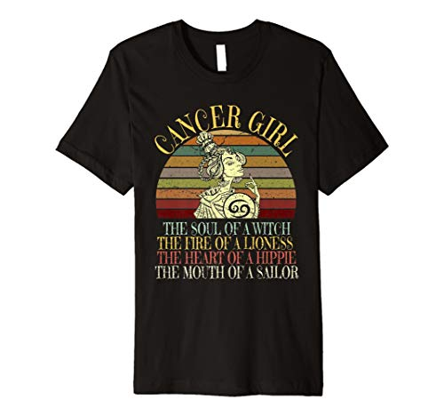 Cancer Girl Zodiac T Shirt June July Birthday Women Gift