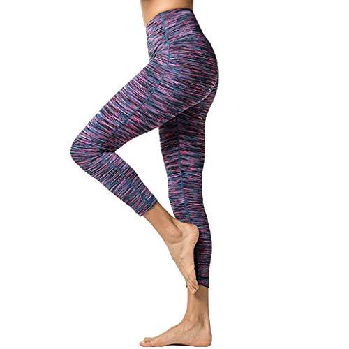 AIni Yogahosen für Damen 2019 Neuer Beiläufiges Mode Sale Hohe Taille und Enge Fitness Yoga Hosen Nackt Versteckte Tasche Yoga Hosen Sport Fitness Hosen Trainingshose Yoga Leggings (M,Rot)