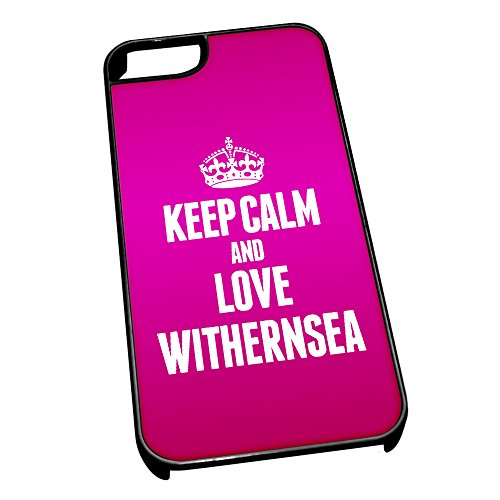 Duke Gifts Nero Cover per iPhone 5/5S 0731 Pink Keep Calm And Love Witherns