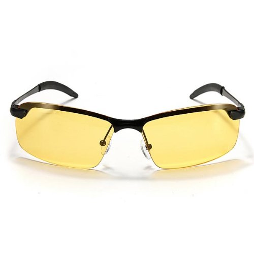 MaMaison007 UV400 Polarizzato di Mens ciclismo guida Night Vision occhiali occhiali da sole