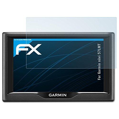 Garmin nüvi 57LMT Schutzfolie - 3 x atFoliX FX-Clear kristallklare Folie Displayschutzfolie