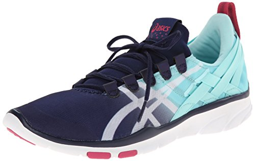 Asics Gel-Fit Sana Synthétique Baskets Navy-White-HotPink