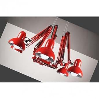 Haute Qualité 6 Lampes contemporain Araignée Lustre Suspension Plafonnier - White
