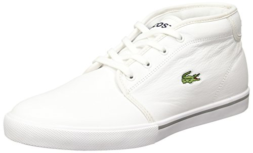 Lacoste Sport Herren Ampthill Lcr3 SPM Hohe Sneaker, Weiß wht, 42 EU