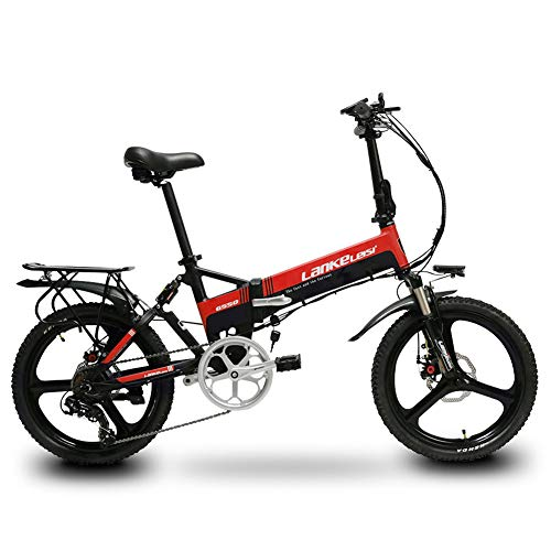 414S2Pqz7cL. SS500  - Cyrusher G550 Electric Bike 48V 250W Folding Mens Ebike 21 Speeds Disc Brake Road Bike 20inch Bicycle with Full suspension Fork and Smart Coputer