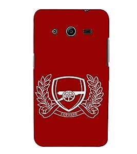 EPICCASE Arsenal Mobile Back Case Cover For Samsung Galaxy Core 2 (Designer Case)