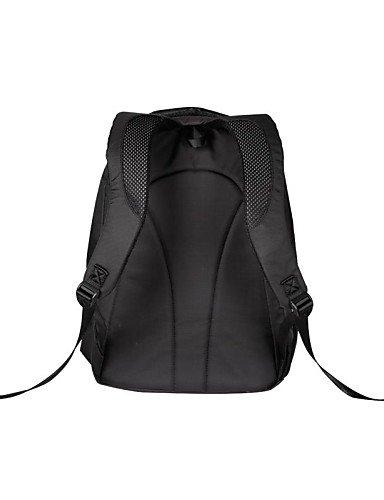 ZQ OIWAS Herren Nylon und PVC 26.5L Computer-Rucksack-Tasche für 15-Zoll-Laptop Black