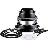 Tefal L2009542 Ingenio Essential - Juego de ollas y sartenes (14 piezas), color