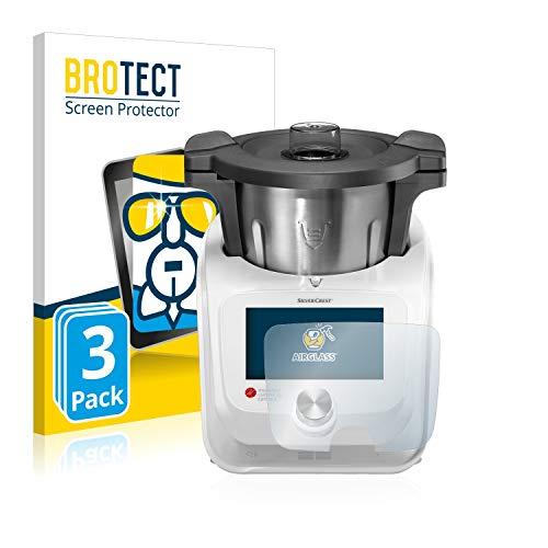 brotect Protection Ecran Verre Compatible avec SilverCrest Monsieur Cuisine Connect (3 Pièces) Film Protecteur Vitre 9H Anti-Rayures, AirGlass