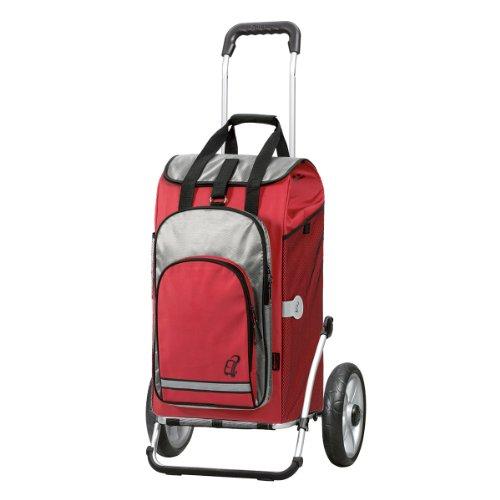 Andersen Shopper Royal mit kugelgelagertem Rad 25 cm und 60 Liter Einkaufstasche Hydro rot mit Kühlfach