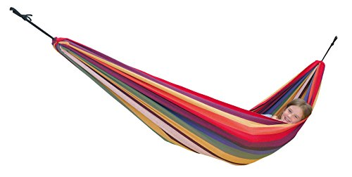 AMAZONAS Kinderhängematte Chico 220 x 120 cm bis max. 80 kg in Regenbogenfarben