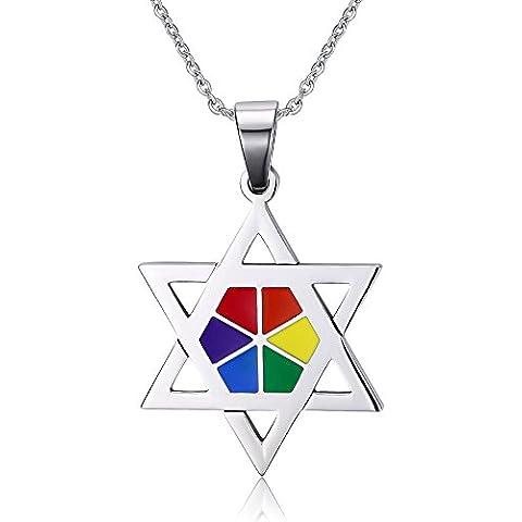 LianDuo Gay Lesbiche LGBT in acciaio inox stella di David