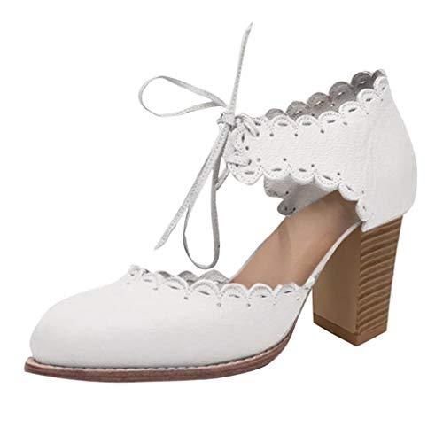 Bluestercool Donna Moda Donna alla Caviglia Piatto Mocassini Roman Women ' S Scarpe Tacco Alto