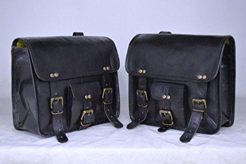 Lbh 2 x borsa laterale moto nera borsa laterale in pelle borse laterali borse laterali (2 sacchetti) pre valentines day special sale