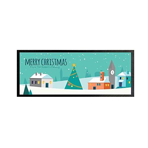L&S PRINTS FOAM DESIGNS Weihnachten Handtuch Läufer Pub Partei Untersetzer Bier Party Geschenk Personalisiert Weihnachten Stadt Ungebraucht