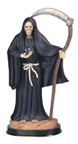12Inch Negro Santa Muerte San la Muerte Parca Estatua Figura decorativa por SGC