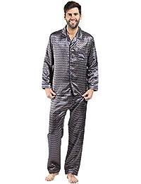 04d38854fb Harvey James Men s Satin Dressing Gown Robes Kimono