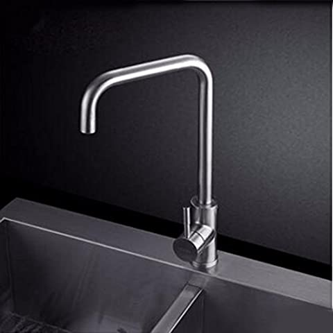 Kitchen Faucet 304 Stainless Steel Dish Basin Hot And Cold Faucet Sink Lead-Free Bath Bowl Faucet