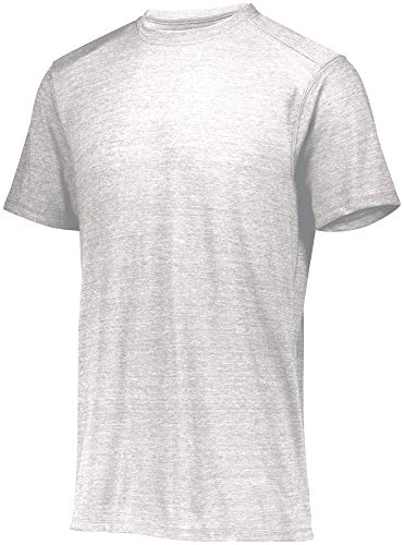 Augusta Sportswear Jungen Boys Tri-Blend T-Shirt kurzärmelig, weiß, Large