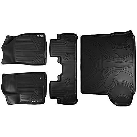 Maxliner MAXFLOORMAT Complete Set Custom Fit All Weather Floor Mats For Select Toyota Highlander Models - (Black) by MAXLINER