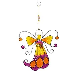 Fensterdeko Engel, Fee aus Resin gelb, orange   Fenster Deko zum Aufhängen   Regenbogenkristall   Sonnenfänger   Engel Deko Sommer   Deko Engel   Fensterschmuck Sommer