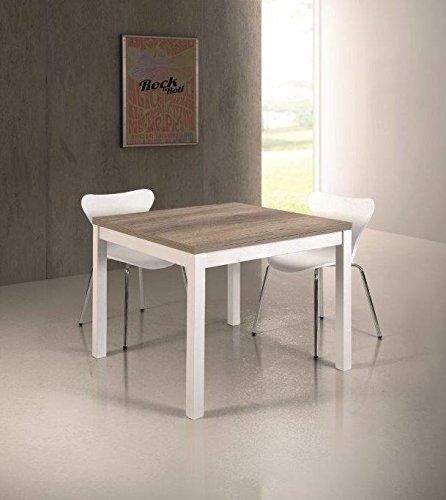 Fashion commerce fc839 tavolo allungabile, legno, multicolore, 180x90x75 cm
