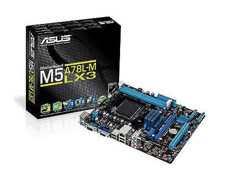 Asus M5A78L-M LX3 Mainboard Sockel AM3+ (micro-ATX, 2x DDR3 Speicher, 1866MHz, 4x SATA II, 8x USB 2.0)