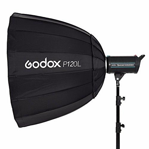 in Lager Godox Tragbare p120l 120cm Tief Parabolische Softbox Bowens Mount Studio Flash Speedlite Reflektor Foto Studio Softbox - Liner-adapter