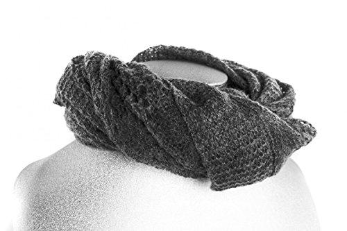 REGINA SCHRECKER étole calda écharpe grand gris cadeau femme free time L1101