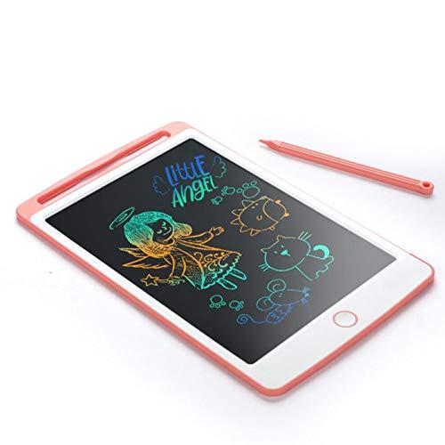 Scrimemo colorato tavoletta grafica lcd scrittura digitale 10 pollice, elettronica lavagna cancellabile tavolo da disegno portatile lavagnetta doodle per bambini insegnante studenti progettista (rosa)