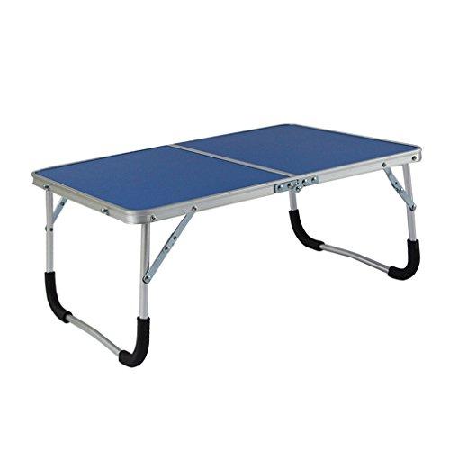 Meng Wei Shop Aluminiumlegierung Klappcomputer Schreibtisch Bett Frühstückstisch Portable Laptop Tisch (Color : Blue) - Portable Shop Schreibtisch