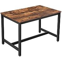 VASAGLE Mesa de Comedor 4 Plazas, Mesa de Cocina, 120 x 75 x 75 cm, Armazón  de Metal de Alta Resistencia, Estilo Industrial, para Sala de Estar y ...