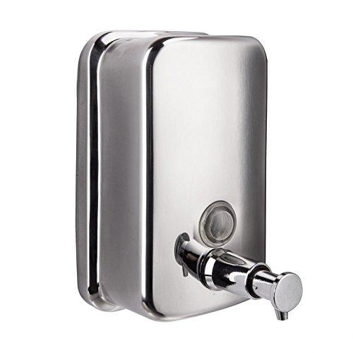 Seifenspender Edelstahl peralng® Bad oder Küche Manuelle Flüssigseife Wand montiert 500ml