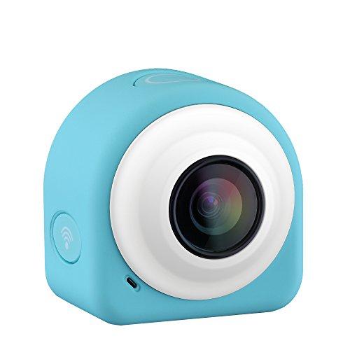 VicTsing Action Cam WIFI Mini Fotocamera Videocamera Tachigrafo con Sensore di Immagine CMOS da 8 Megapixel, Obiettivo Grandangolare di 145 Gradi, 2.4G Telecomando + APP Gratuito in Modulo WiFi + Piastre Magnetiche, Blu