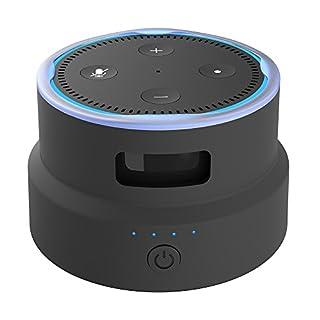 Smatree SmaCup Tragbare Batteriestation für 2. Generation Echo Dot (Schwarz)