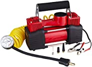 Vitaly 4005016023452  12V Double Cylinder Air Compressor Tire Inflator, Red