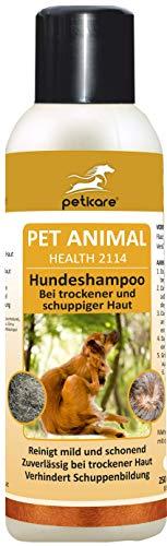 Pflege-schuppen-shampoo (Peticare Spezial-Shampoo für Hunde - Hochwirksame, dermatologische Pflege bei trockener Haut und Schuppen, lindert Juckreiz, regeneriert die Hundehaut, 100% biologisch - petDog Health 2114 (250 ml))